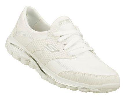 White  Skechers Ladies GoWalk 2 Golf Fairway Golf Shoes - find the best golf shoes at #lorisgolfshoppe