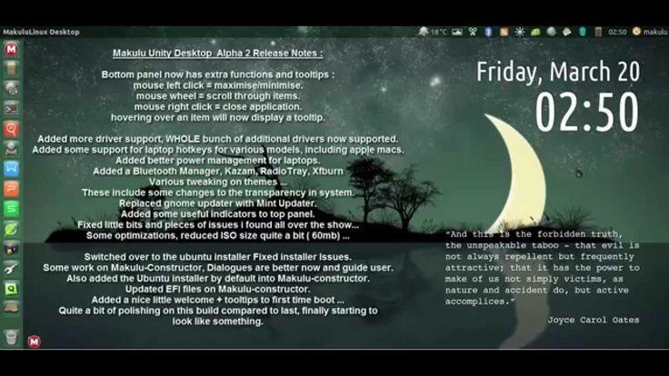 MakuluLinux unity Desktop Alpha 2