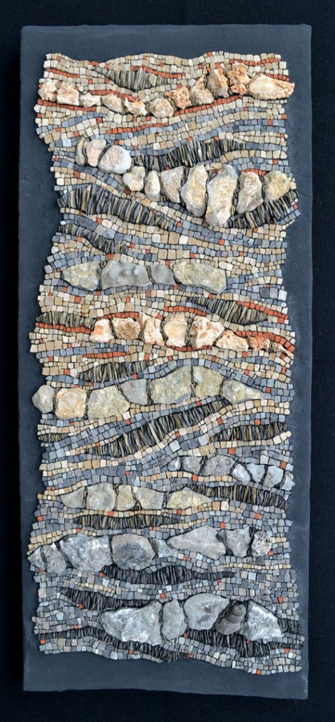 """""""Fossil of the day (From leader to laggard)"""" climate change #mosaic by Julie Sperling"""