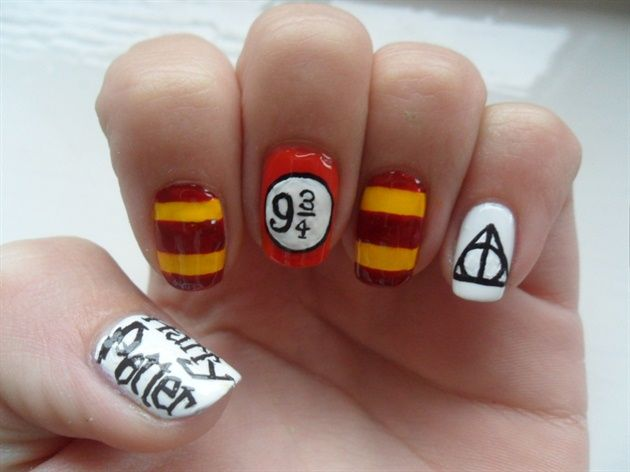 Harry Potter nails - Nail Art Gallery by NAILS Magazine