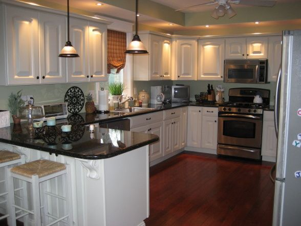 medium toned kitchen cabinets with uba tuba | Our Kitchen - Kitchen Designs - Decorating Ideas - HGTV Rate My Space