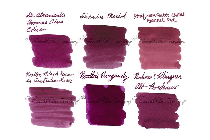 Your fountain pen will write beautifully with this selection of burgundy inks. Try the Ink Sample Package - Reds, Bordeaux, a selection of six of Goulet Pens best selling burgundy inks. Pin for later.