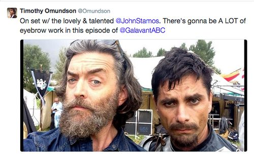 Timothy Omundson and John Stamos. #Galavant.