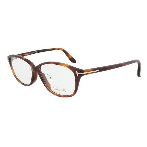 Tom Ford FT4316 056 Rectangular Eyeglass Frame ($159) ❤ liked on Polyvore featuring accessories, eyewear, eyeglasses, tortoise, tortoiseshell glasses, retro glasses, lens glasses, rectangular eyeglasses y rimmed glasses
