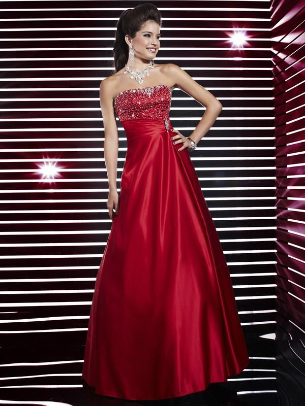 Modelos de vestidos de fiesta color rojo