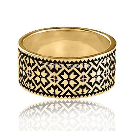 Кольцо из золота с горячей эмалью просто создано для особых случаев! Вес изделия - 8 грамм. Золото 585 пробы.