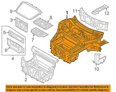 PORSCHE OEM 12-16 911 Front Structural-Front Inr Structure 99150199100GRV