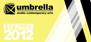 The 2012 Exhibition calendar I designed for Umbrella Studio