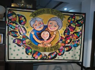 Art ,Craft ideas and bulletin boards for elementary schools: Grandparents day bulletin board