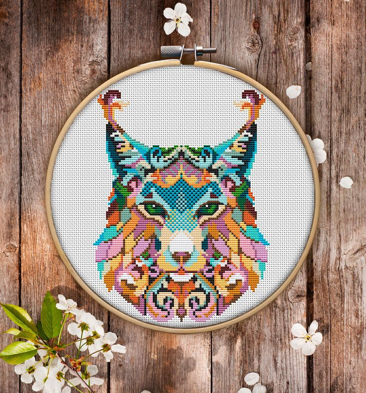 This is modern cross-stitch pattern of Mandala Bobcat for instant download. You will get 7-pages PDF file, which includes: - main picture for your reference; - colorful scheme for cross-stitch; - list of DMC thread colors (instruction and key section); - list of calculated