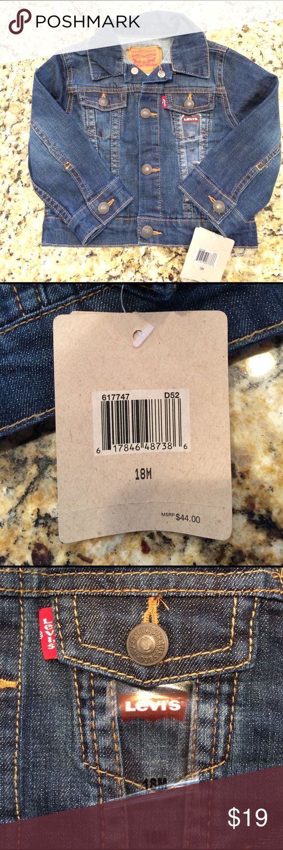 NWT baby's jean jacket. 18months. Adorable gender neutral jean jacket. My son outgrew before he could wear. Size, 18 months. Levi's Jackets & Coats Jean Jackets