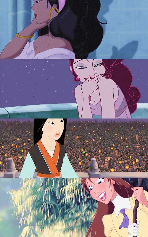 The Hunchback of Notre Dame (1996), Hercules (1997), Mulan (1998), Tarzan (1999).