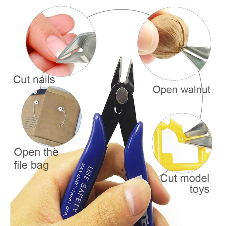 1Pc Diagonal Pliers Carbon Steel Pliers Electrical Wire Cable Cutters Cutting Side Snips Flush Pliers Nipper Hand Tools //Price: $6.99      #sale