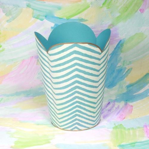 Blue Zebra Wastebasket eclectic waste baskets