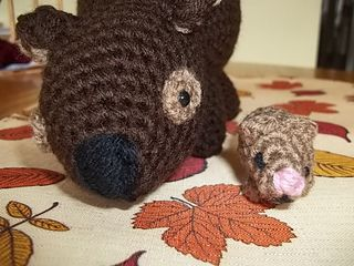 Wombat and joey tested for Rosss on Ravelry