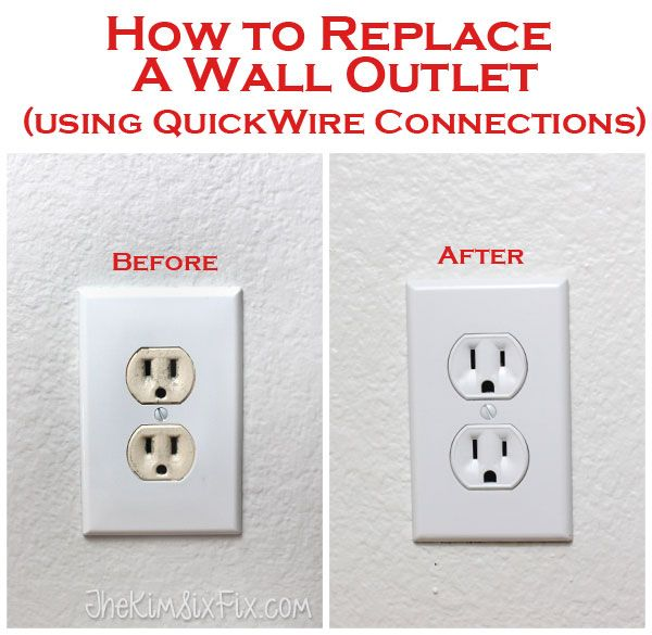 How to replace electrical outlets using QuickWire (Push-In) Connectors
