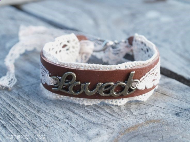 Leather  Lace Bracelet