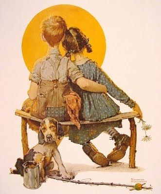 Norman Rockwell art---this is my fave painting by him., Randy has this magazine, took a picture of this and I made it an on-line puzzle <3 this photo.