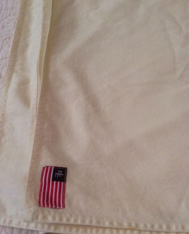 "Vtg. RALPH LAUREN Cream  Tablecloth with Flag Emblem. 62.5"" X 82"" Rectangular    eBay"