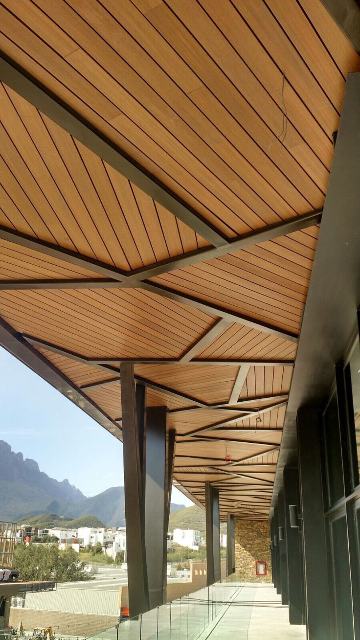 Newtechwood Cladding In 2019 Wooden Ceiling Design