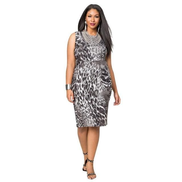Women Plus Size Mini Dress