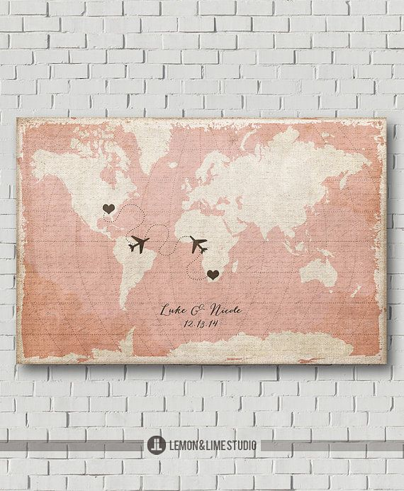 Custom Map Wedding Guest Book World Map Rustic Wedding Guestbook Wedding Poster Unique Destination Wedding Gift Travel Wedding Love Map Art