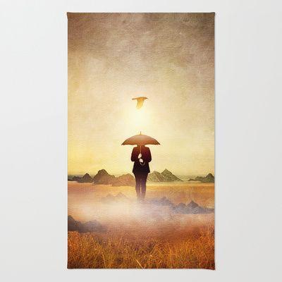 Waiting for the rain Rug by Viviana Gonzalez - $28.00