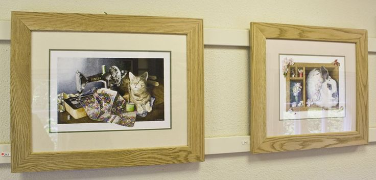 Singer and Briar Rose at the Lake Artists' Society Summer Exhibition 2015