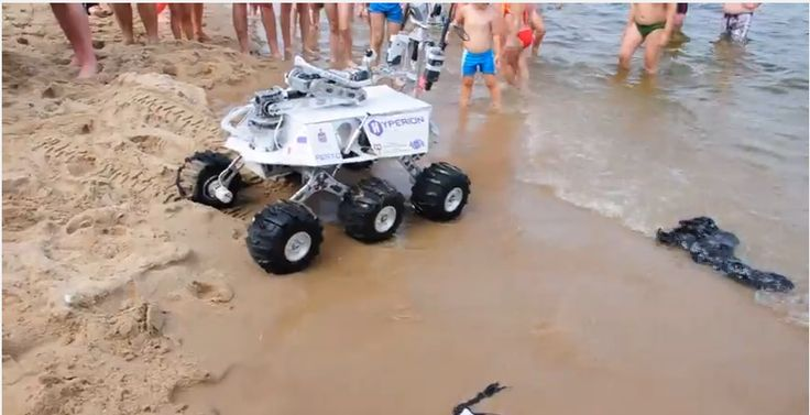 The rover is on the beach! https://www.youtube.com/watch?v=75JMylS8IGE