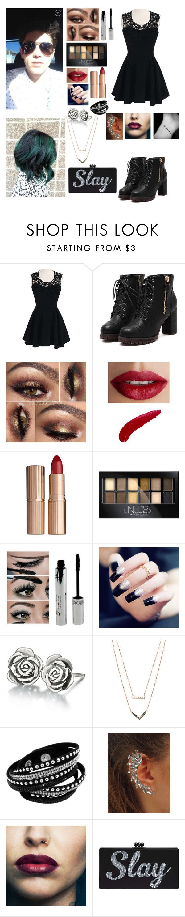 """""""MTV Music Awards w/ Skate Maloley"""" by bean-28 ❤ liked on Polyvore featuring TheBalm, Charlotte Tilbury, Maybelline, Chamilia, Michael Kors, women's clothing, women's fashion, women, female and woman"""