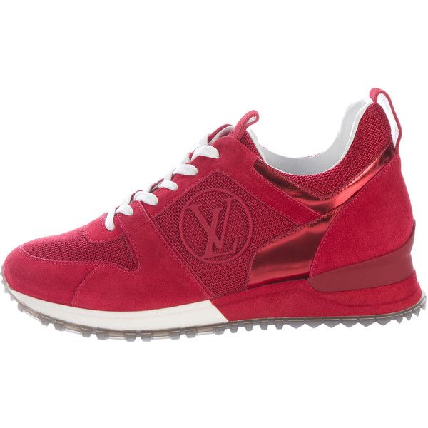 louis vuitton sneakers. pre-owned louis vuitton suede run away sneakers ($700) ❤ liked on polyvore