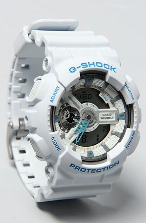 The GA-110SN Watch in White by G-SHOCK Get 20% OFF when using repcode 'AireMaxx' @ Check out  It'll save u $TAXX