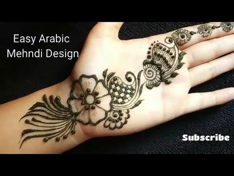 Easy Beautiful Arabic Mehndi Design For Front Hand New Mehndi Design Latest Mehndi Design Youtube Mehndi Designs Mehndi Beautiful