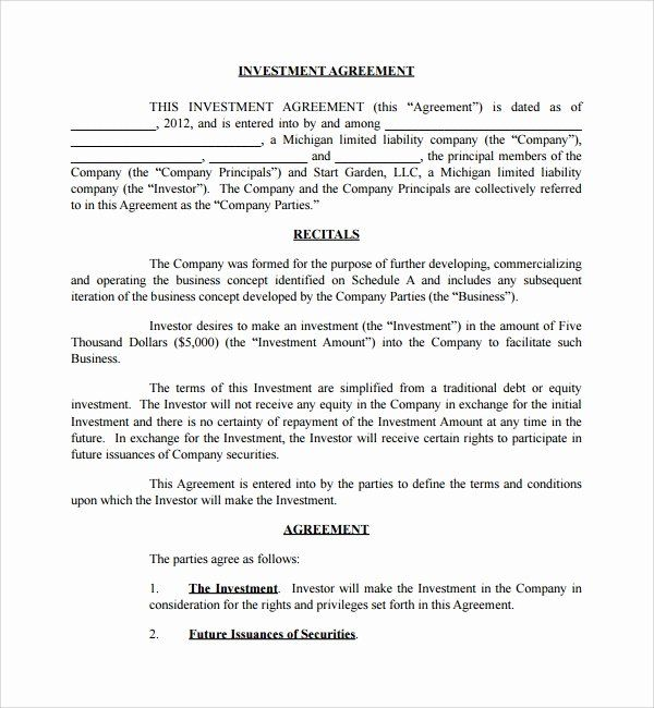 Simple Business Contract Template In 2020 Contract Template