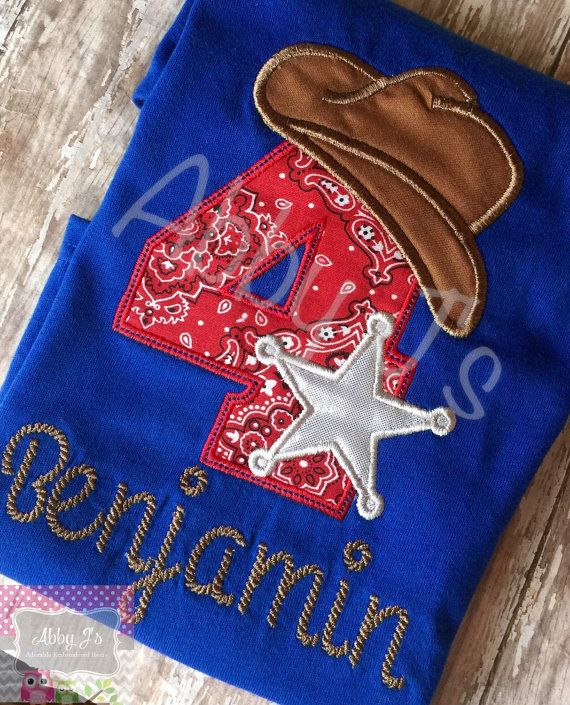 Western Cowboy Birthday shirt. Custom made and by AbbyJsCustomMade