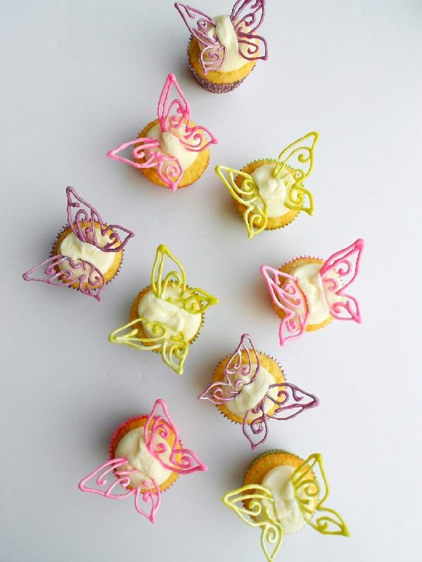 "Pixie Dusted Fairy Cupcakes by Culinary Couture Brought to you by BlogHer and Disney's ""The Pirate Fairy,"" an All-New Tinker Bell Movie on Blu-ray and Digital HD Now ~Erin"