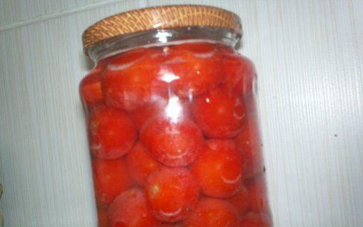 Retete Culinare - Rosii chery la borcan