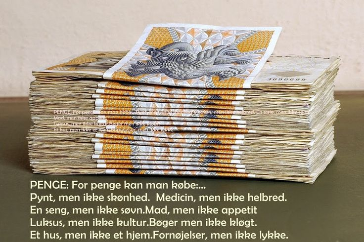 Sagt om penge