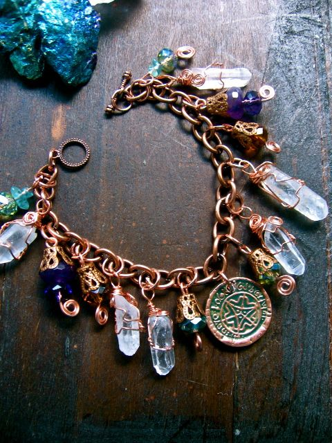 ✧☽ Magical Faerie Inspiration- wishing coin charm bracelet! ☾✧