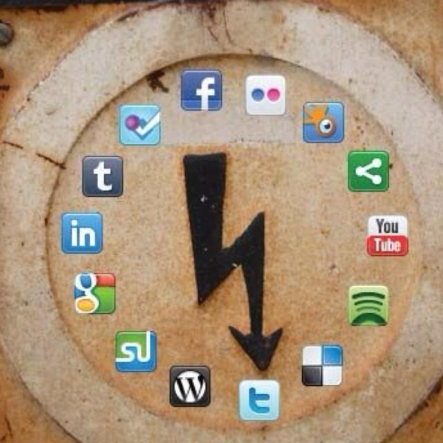 "Awesome social media clock I ""like"""