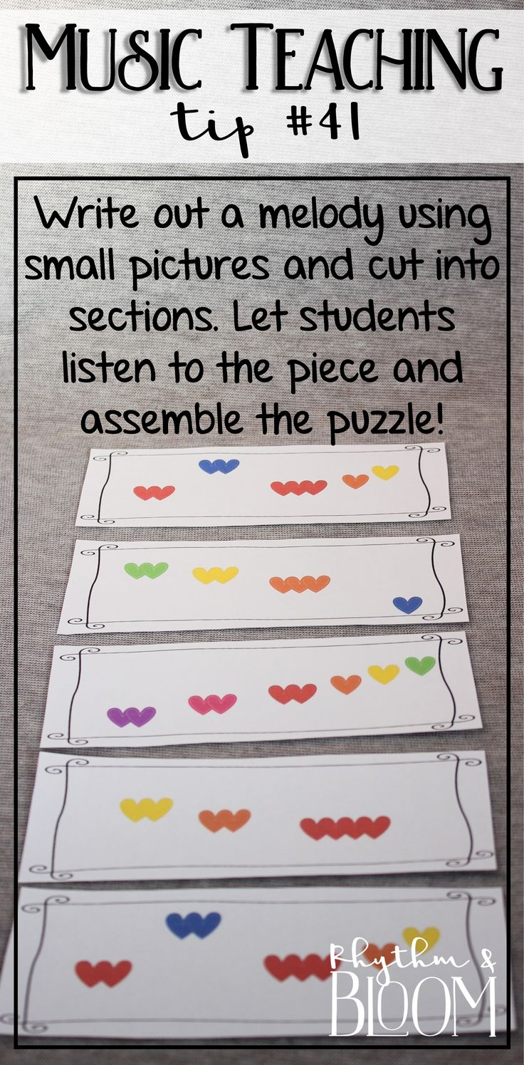 Love this idea to get kids excited about listening to music! (Also a great beginner activity for melody dication!)