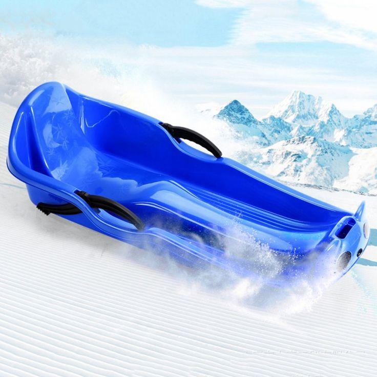 Gelo-resistente resistente all'usura Addensato Slitta Snowboard Erba Auto Sci Piastra Scorrevole con Freno di Sicurezza Per Bambini Goccia nave