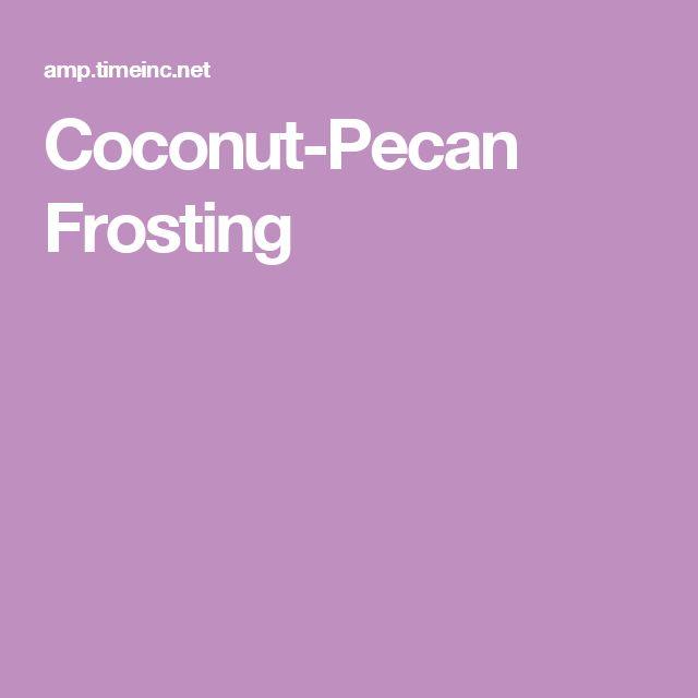 Coconut-Pecan Frosting