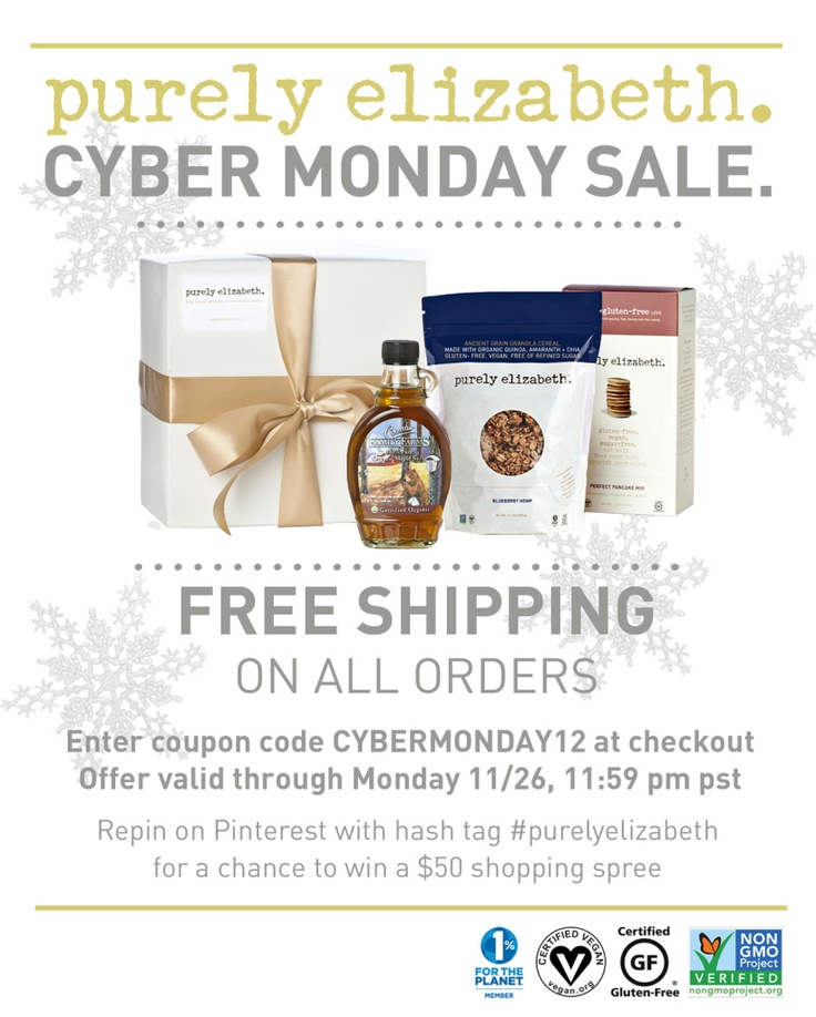 Cyber Monday Sale. Free Shipping On All Orders. Repin With