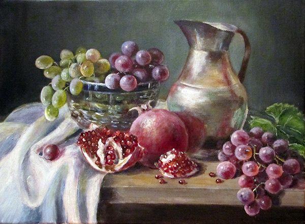 Воробьева Ольга. С виноградом
