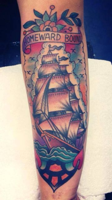 Tattoo-Foto: Traditional Clipper Ship