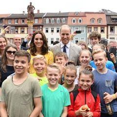 Britain's Prince William and his wife Catherine, Duchess of Cambridge, visit the Marktplatz