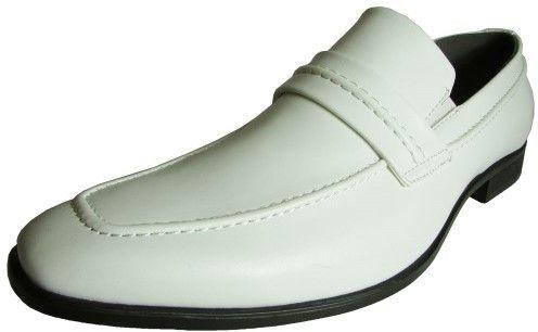 Steve Madden by Steve Mens M-Ventor Moc Toe Dress Loafer Shoe, White, US 11.5