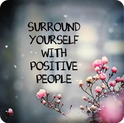 Acerque-se de pessoas positivas