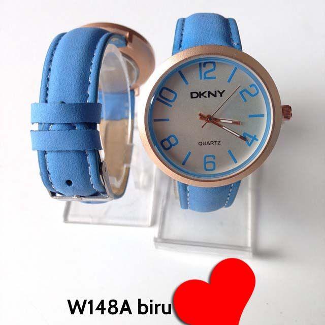 Jam tangan DKNY for ladies Kode barang : W148A biru || Harga 85ribu || Diameter : 3.7cm ||  Tali : kulit lapis suede || Water resistant: tidak